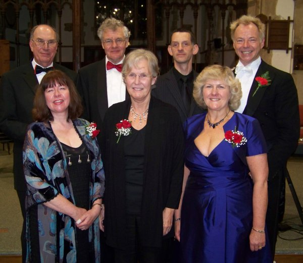 Soloists, musical director and organist after the performance of Handel's Messiah in St Matthew's Church Harwell