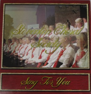 Front cover the the CD, Steventon Choral Society Sing for You