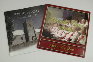 Front covers of two CDs recorded by Steventon Choral Society