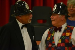 Two of the male voices, Bert Branker and John Hunt , accompanying the singins of the Policeman's song from the Pirates of Penzance