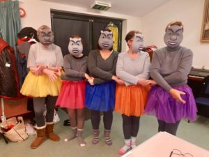 The 'hippos' wait to make their entrance - Christmas Concert 2018