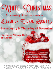 Poster for Steventon Choral Society's Christmas Concert 2019