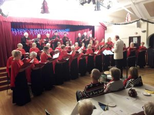 Steventon Choral Society singing at its Christmas Concert, December 2019
