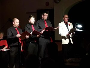 Phil Brazier, Luke Le Maitre, Howard Feather and Terry Pearce sing Mary's Boy Child