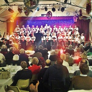 Steventon Choral Society singing in Steventon Village Hall during one of its Christmas concerts in December 2013