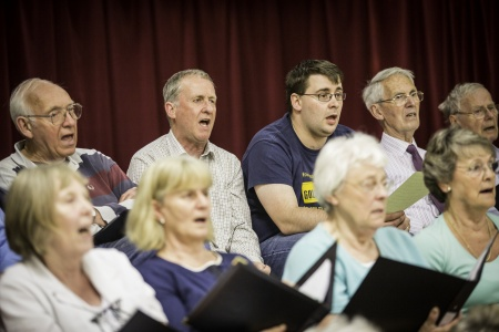 Steventon Choral Socieity in rehearsal (photo: Adrian Cubitt)