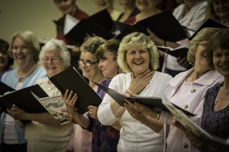 Steventon Choral Society in rehearsal (photo: Adrian Cubitt)