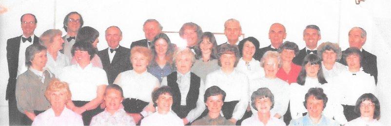 Steventon Choral Society in 1981