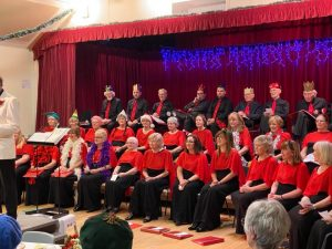 Choir waits to sing The Twleve Days of Christmas