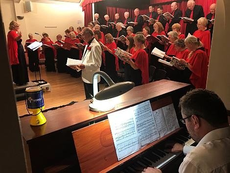 Photo from Steventon Choral Society's concert for Sobell House Hospice used in the Sobell House newsletter