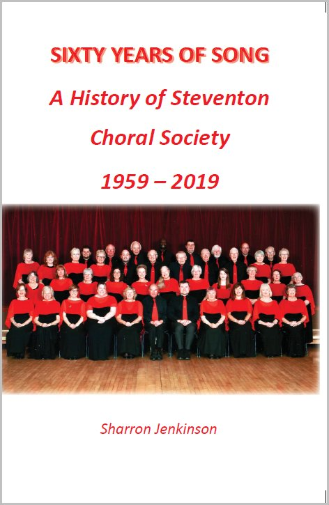 Front cover of book compiled by choir member Sharron Jenkinsoon on the history of Steventon Choral Society 1959-2019