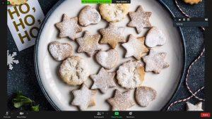 Festive biscuits on a plate - ho,ho, ho