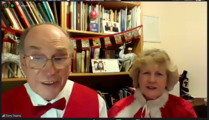 Steventon Choral Society's musical director, Terry Pearce, with his wife Helen