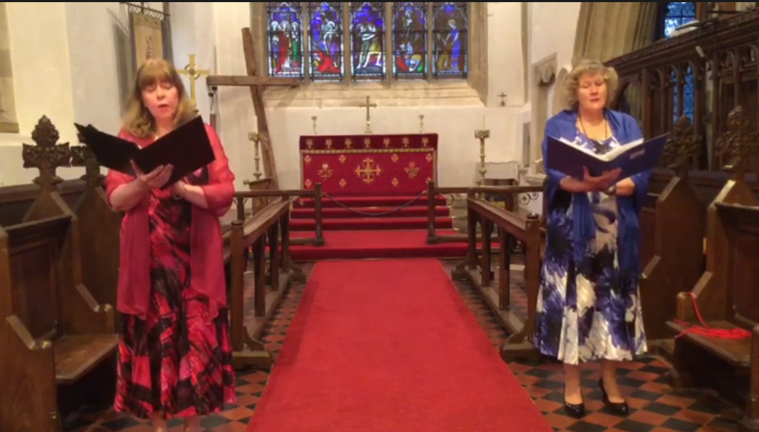 Rebecca Joisce and Helen Pearce sing 'You Raise Me Up'