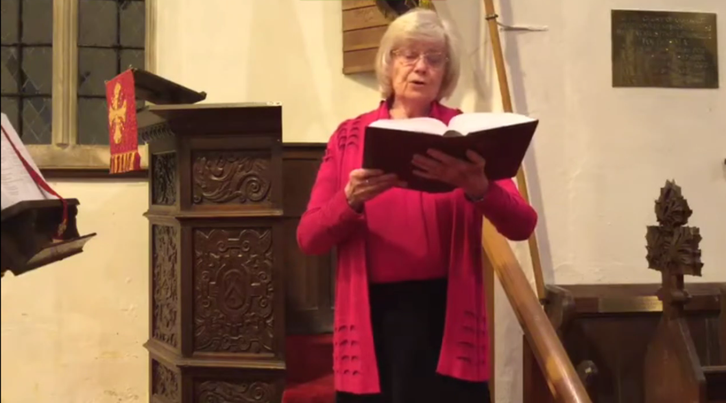 Trish Napper sings the hymn Praise to the Holiest in the Height