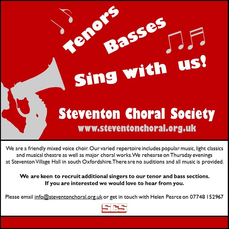 Tenor and bass recruitment flyer